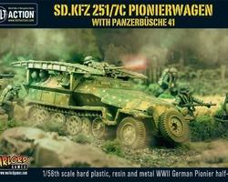 German SdKfz 251/7 Ausf C Halftrack Pionierwagen