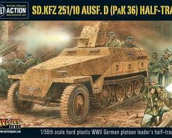 German SdKfz 251/10 Ausf D Halftrack + PAK36