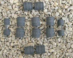 Plastic barrels medium size