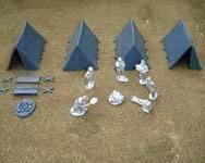 Plastic Ridge tents + acc.