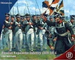 Nap Russian infantry 1809-1814