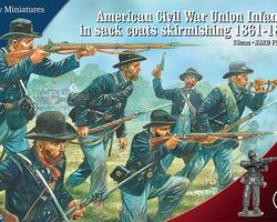 American Civil War Union infantry skirmishing
