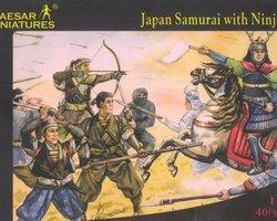Japanese samurai with ninja