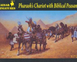 Egyptian chariots with Pharaoh and peasants