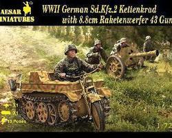 German Kettenrad + 88mm Raketenwerfer + crew
