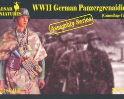 German Panzergrenadier in camouflage cape
