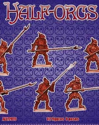 Half Orcs set 1 Pikemen