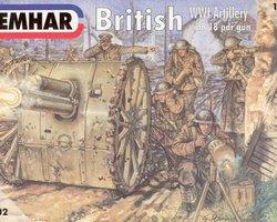 British artillery with 18pdr gun