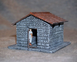 Roman Latrine with figures