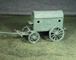 French ambulance wagon 4 wheels