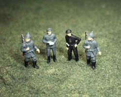 German Panzer soldiers and sentries