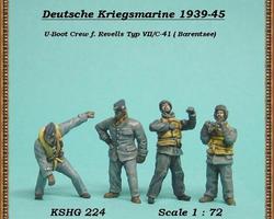 German Navy crew U-boot VII C41 set 2
