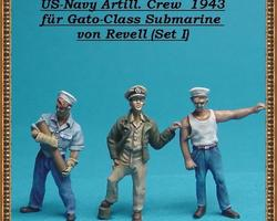 US Navy crew for Gato-class U-boat set 1