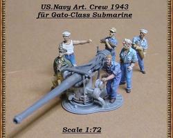 US Navy crew for Gato-class U-boat set 2