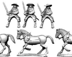 French cavalry in Buff coat 1672