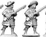 Musketiers with flintlock 1672