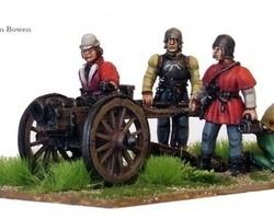 Fieldgun with crew, War of the Roses