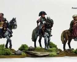 Napoleon and Staff mounted