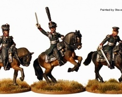 Russian infantry Field Officers mounted