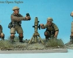 British 3 inch Mortar + crew (desert)