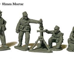 German 81mm Mortar & crew (desert)