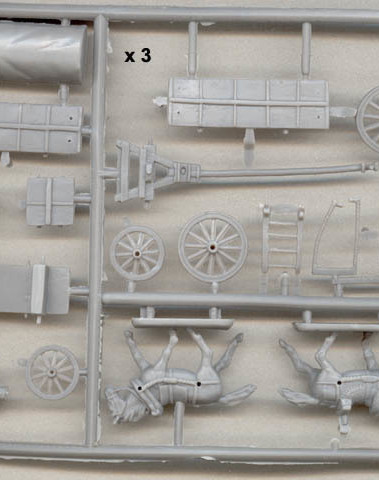 French Baggage wagons