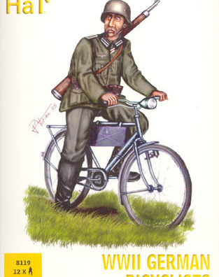 German infantry on cycles