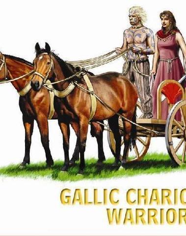 Celtic Chariot with Warrior Queen
