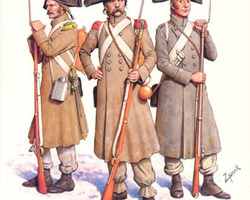 French infantry in greatcoat 1806