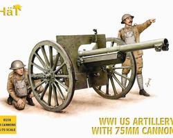 US artillery with 75mm guns