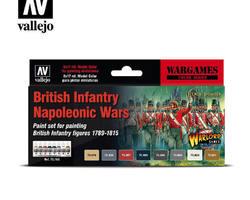 Paintset British infantry Nap. Wars