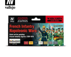 Paintset French infantry Nap. Wars