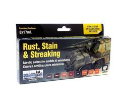 Paintset Rust, Stain 7 Streaking