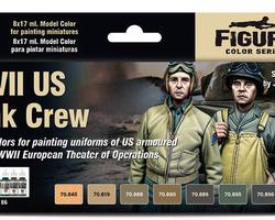 Paintset US tank crew
