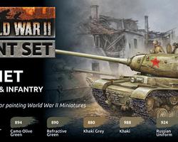 Paintset Soviet armour & infantry WW2