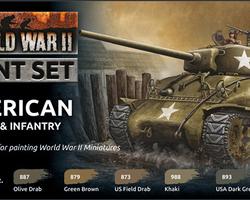 Paintset US armour & infantry WW2