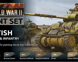 Paintset British armour & infantry WW2