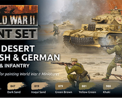 Paintset Desert British & German armour & infantry WW2