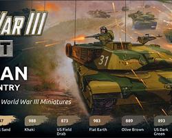 Paintset Modern US armour & infantry