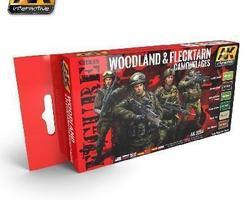 Woodland & Flecktarn cam. color set