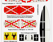 1/72 Medieval Swiss and Burgundy Flags