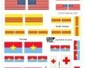 1/72 Vietnam war flags