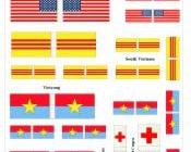 28mm Vietnam war flags