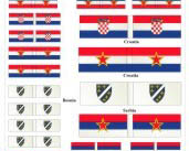 28mm Yugoslavia conflicts flags