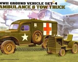 WW2 US Ambulance + tractor