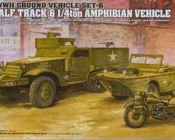 WW2 US halftrack, Jeep + motor
