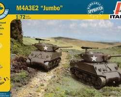 US Sherman M4A3E2 Jumbo tanks (2x) Quick build