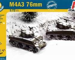 US Sherman M4A3 76mm tanks (2x) Quick build