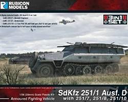 German SdKfz 251/1 or 7/8/10 Ausf D halftrack