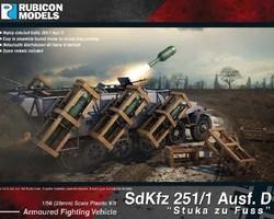 German SdKfz 251/1 Ausf D halftrack Stuka zu Fuss